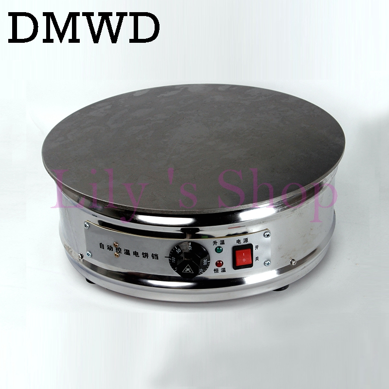 Commercial Electric Crepe baking pan cake machine Cereal pancake maker stove omelet frying pan flat rolls griddle 2kW EU US plug jiqi electric baking pan double side heating household cake machine flapjack pizza barbecue frying grilling plate large1200w