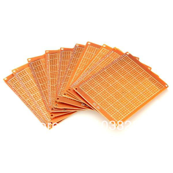 Prototype Universal Printed Circuit Board Breadboards - Brown (10-Pack) ...