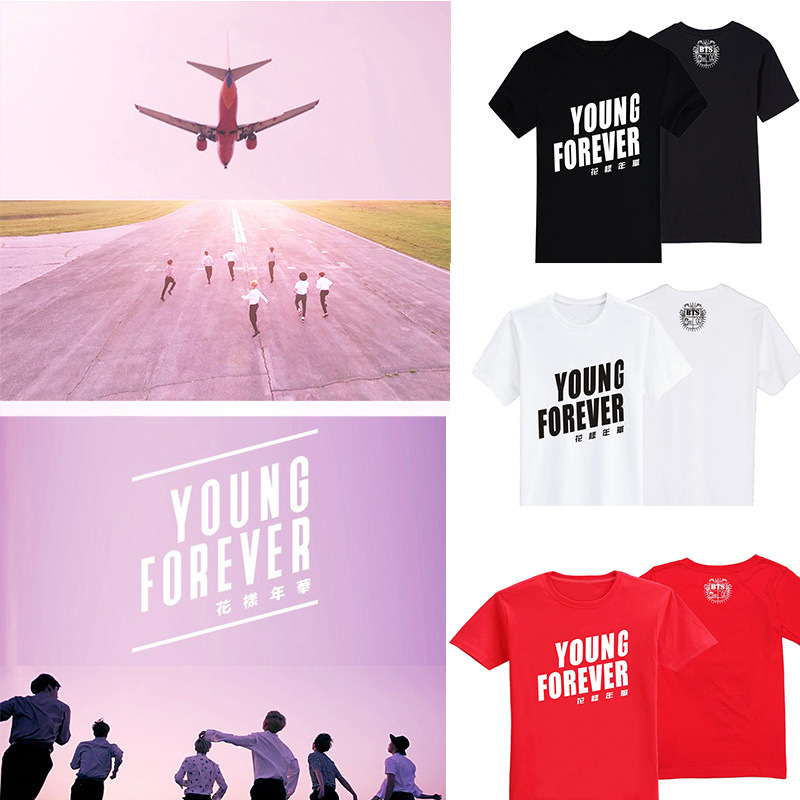 KPOP BTS Young Forever Bangtan Boys 2016 Album Cotton Clothes Tshirt Clothing T-shirt T  ...