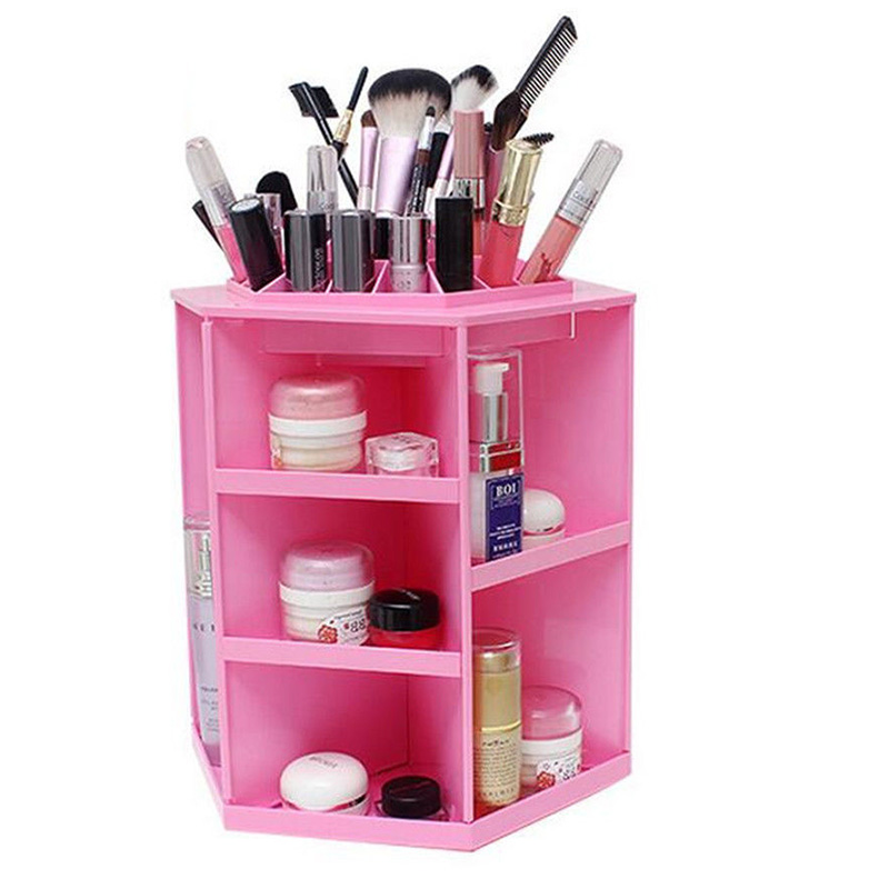 1Pcs 360 Rotating Cosmetic Makeup Jewellery Display Spinning Rack Storage Boxes For Women Accessorie Organizer Assemble #86934