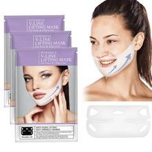 4pcs/box 4D Double V Face Shape Tension Firming Mask Slimming Eliminate Edema Li