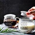 350 мл чашка для кофе блюдце доброе утро чашка для завтрака Молочный Сок термостойкая креативная чашка для кофе набор