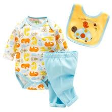 (3pcs/set)Newborn Baby 0-12M Clothing Set Brand Baby Boy/Girl Clothes 100% Cotton Cartoon Underwear,Free Shipping
