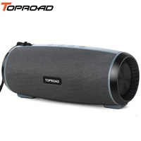 TOPROAD Portable Bluetooth Speaker Wireless Stereo Soundbox Big Power 10W Subwoofer Column Speakers Support TF FM Radio USB TWS