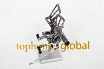 For Suzuki GSXR1000 2001 2002 2003 2004 CNC Motorcycle Rearsets Foot pegs Rearset Titanium Grey Footpeg