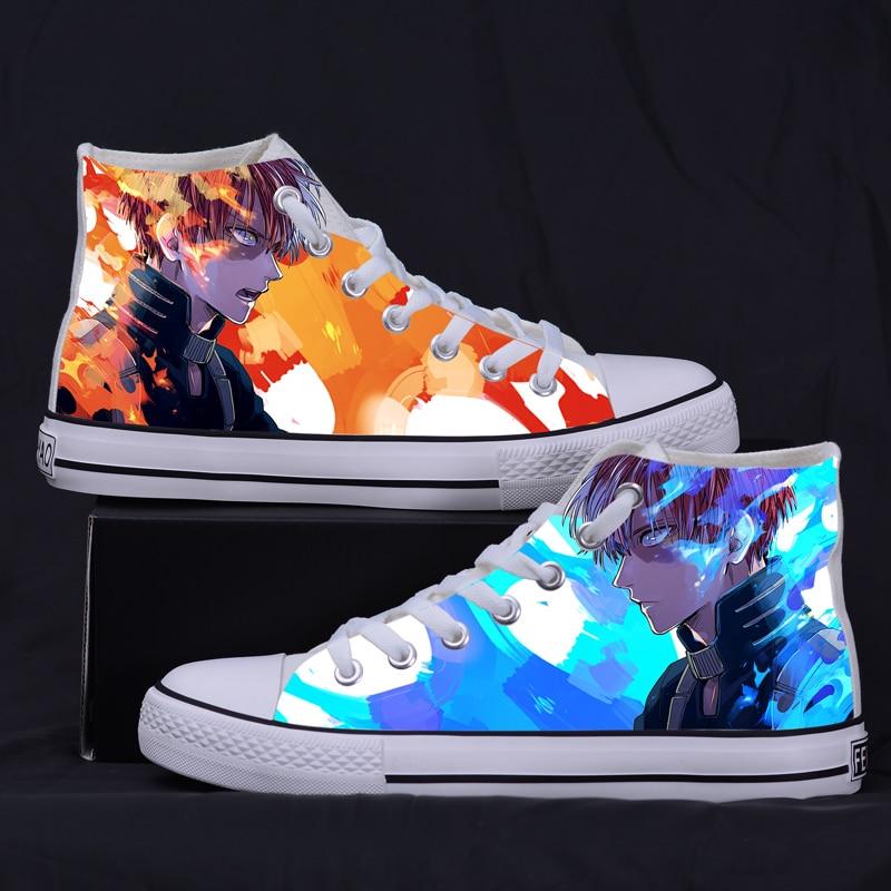 Anime My Hero Academia Boku no Hero Academia Canvas Shoes Todoroki Shoto Cosplay Shoes For Adult Women Men Shoes