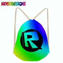 3d backpack Roblox Toys Drawstring Bag Sack Sport Gym Travel Outdoor Backpack Boys girls bags for shoes Drawstring School bag(China)