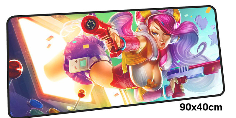 miss fortune mousepad gamer 900x400X3MM gaming mouse pad large High-end notebook pc accessories laptop padmouse ergonomic mat