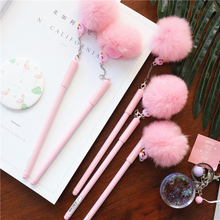 Plush Flamingo Gel Pen Cute Quality Stationery Kawaii School Supplies Ink Tools Office Suppliers