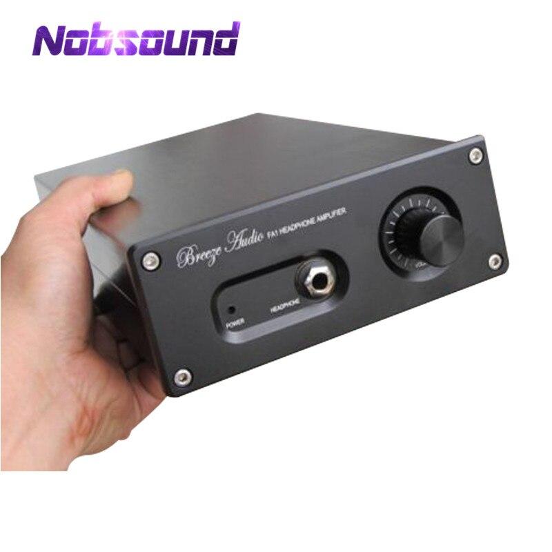 Nobsound black Aluminium Case Amplifier Enclosure Headphone Amp Chassis