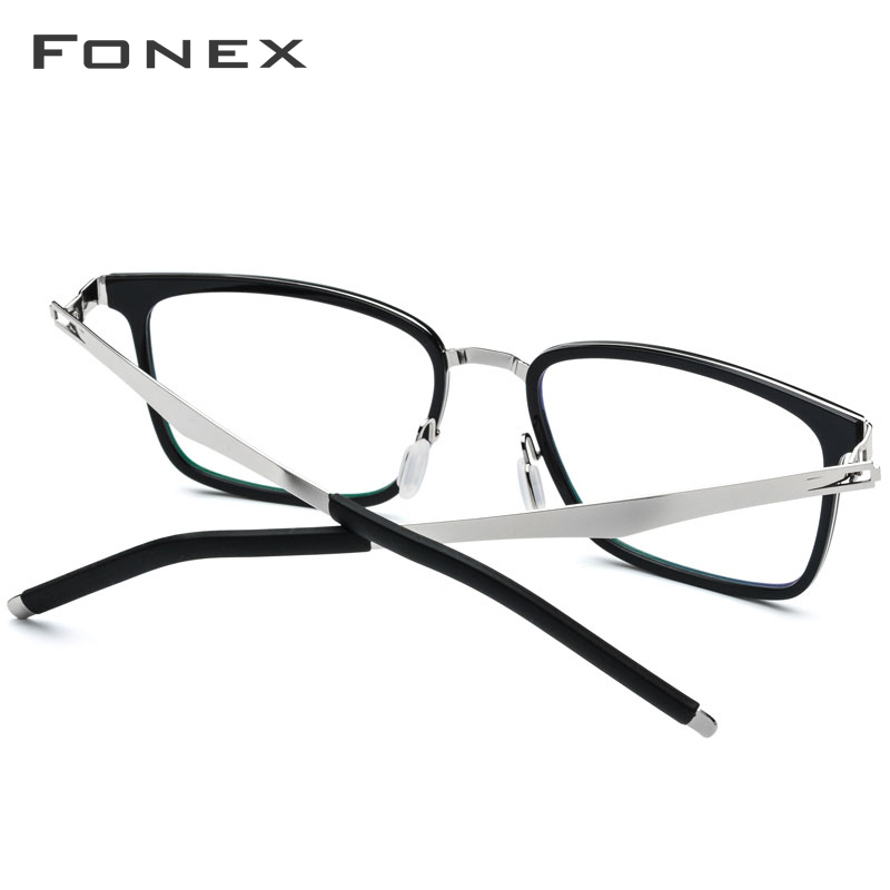 FONEX TR90 Glasses Frame Men Square Prescription Eyeglasses 2019 New Myopia Optical Frames Spectacles Women Screwless Eyewear