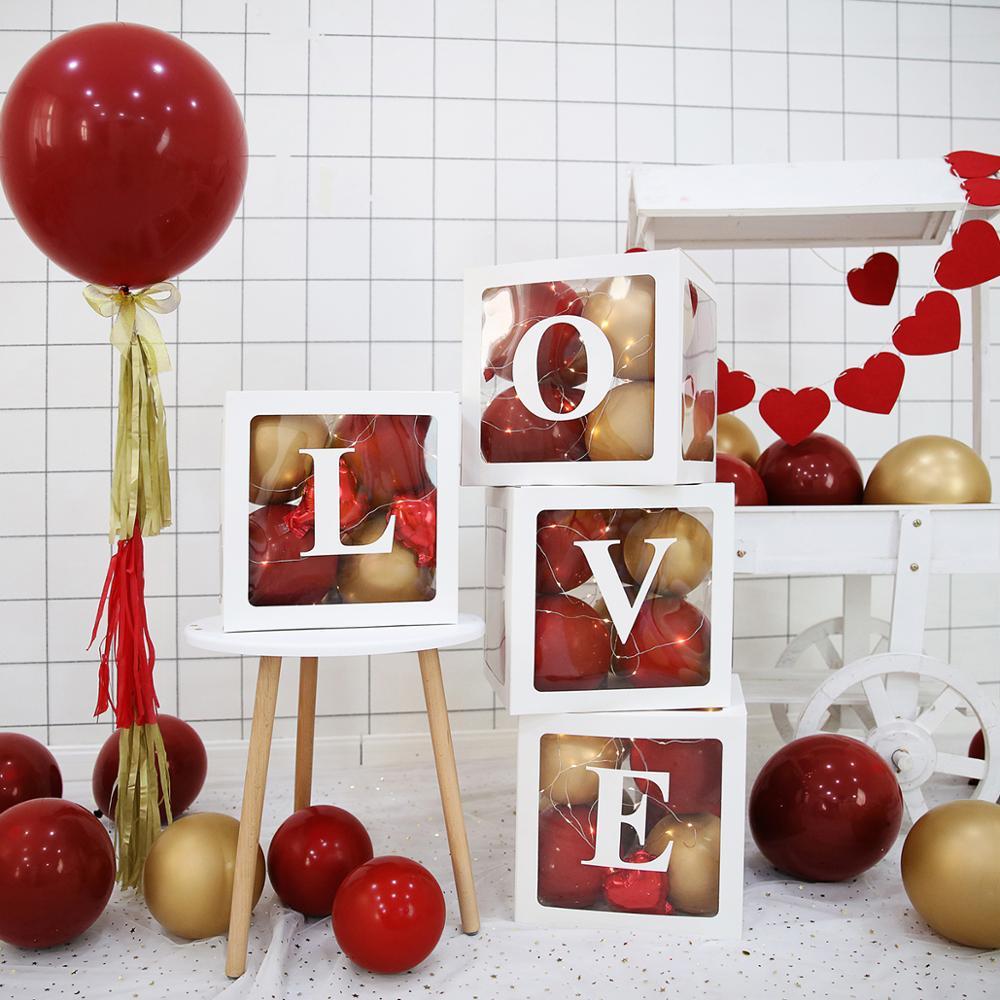 QIFU Baby Transparante Opbergdoos Ballon Baby Shower Decoraties 1st Verjaardagsfeestje Decoraties Kids Baby Shower Jongen Meisje Geschenken 3