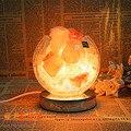 Аутентичные деревянные полые кристалл соли лампа настольная лампа сказочный замок Континентальный Творческий спальня настольная лампа Фары