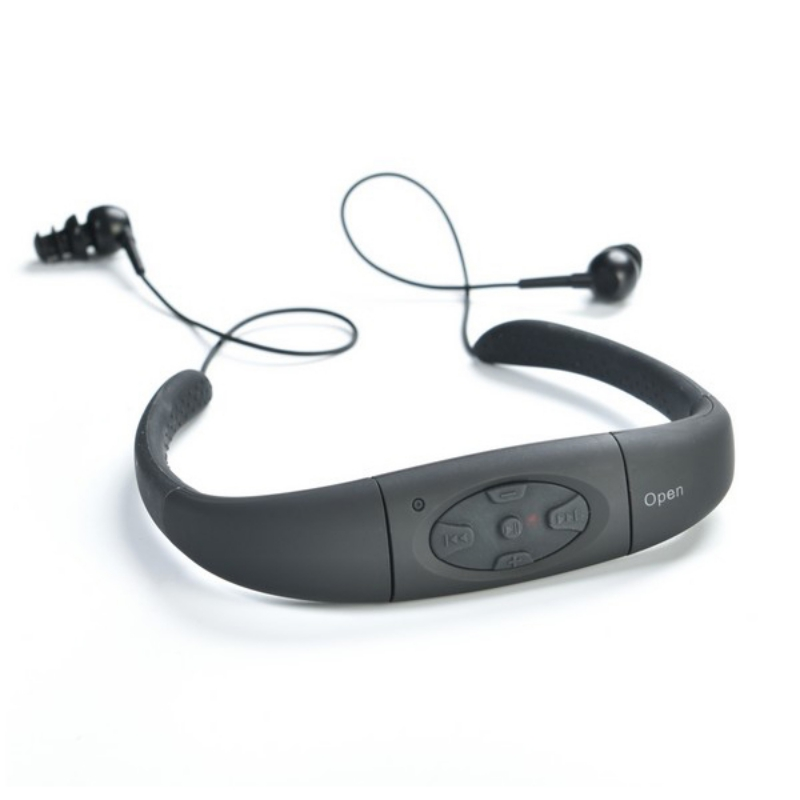 Waterproof Sports MP3 Music Player Neckband Stereo Headphones Sweat-proof Audio Headphones With FM Diving Swimming 8GB