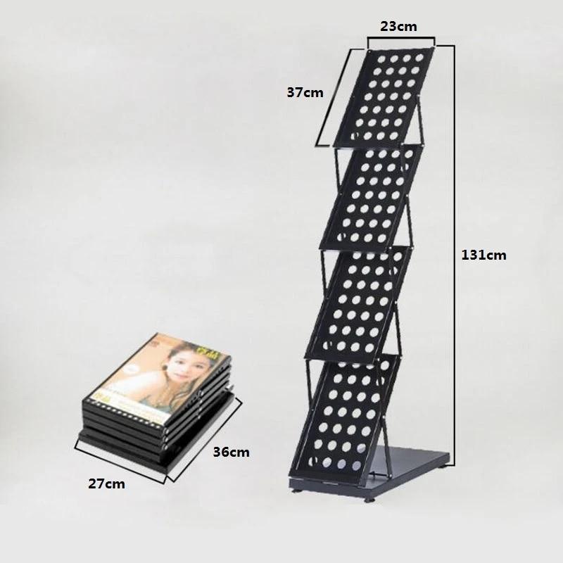 4 sets a4 magazine brochure catalogue literature poster page holder tray folding holder display rack za6663