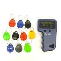 Ручной 125 кГц RFID Дубликатор Копир Писатель программист считыватель + EM4305 T5577 10 ключей 10 карт перезаписываемые ID брелки метки карты