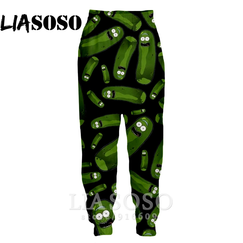 3d Print Men Women Cartoon Full Length Sweatpants Animal Rick Morty Winter Pants Anime Jogger Pickle Funny 2019 Trousers  E468