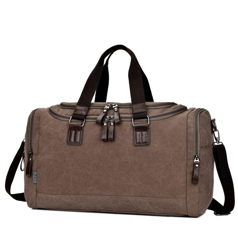 Canvas Trunk Men Women Travel Bags Carry on Luggage Foldable Purse Duffel Tote Large Big Shoulder Messenger Weekend Handbag