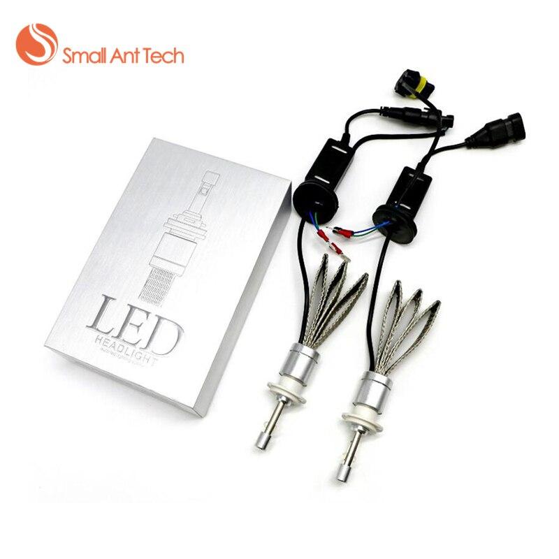 SamllAntTech Faro Dell'automobile H7 H4 LED H8/H9/H11 HB3/9005 HB4/9006 H1 H3 H13 9004 9007 80 W 9600lm Lampadina Auto Faro 6000 K luce