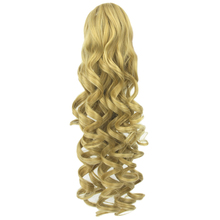 Soowee Long Wavy High Temperature Fiber Synthetic Hair Clip In Hair Extensions Pieces Pony Tail Blonde Black Claw Ponytail