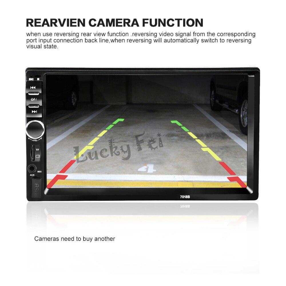NUEVA 2 Din Coche Reproductor de Vídeo 7 ''HD de Pantalla Táctil 1080 P Bluetoot