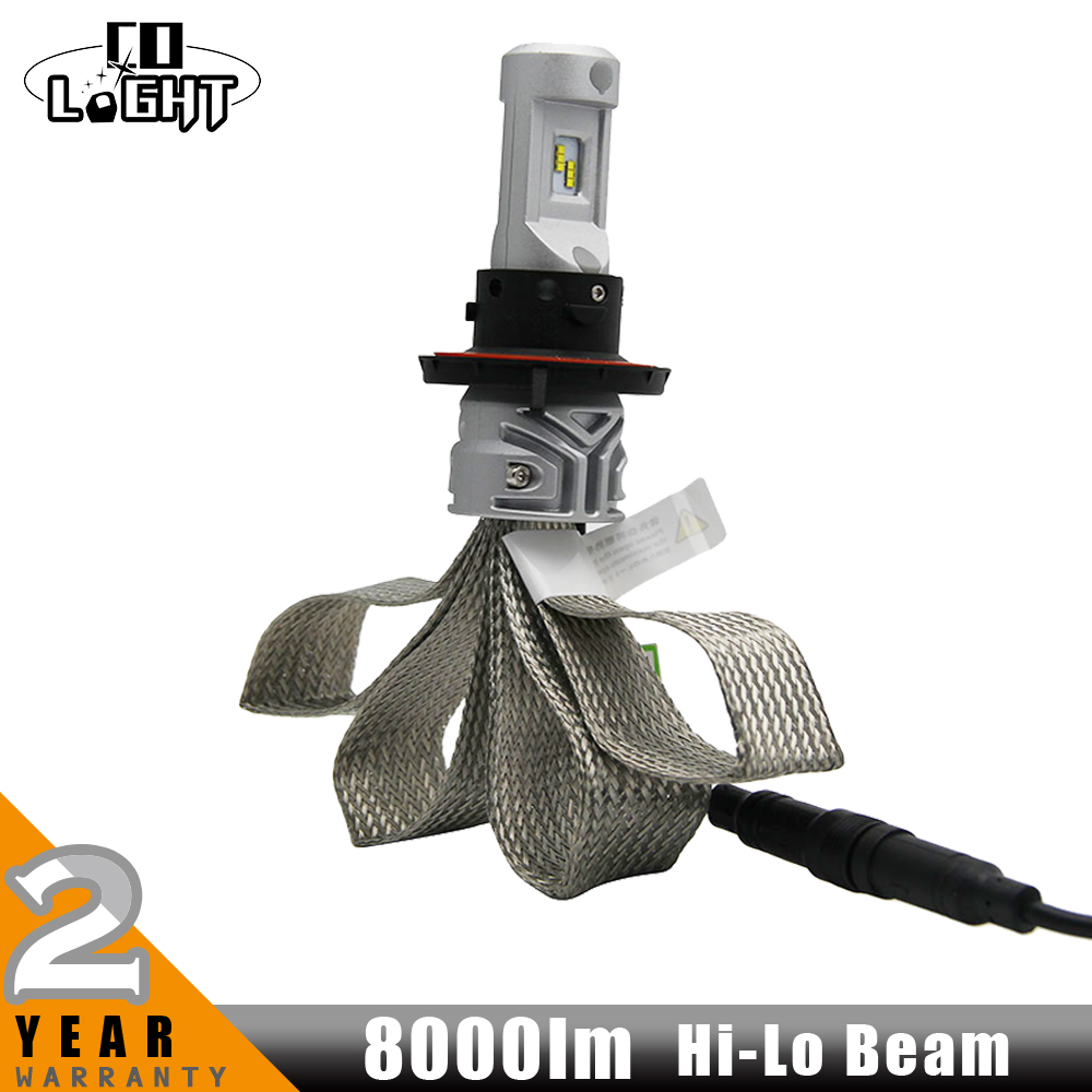 CO LIGHT H4 H7 H11 LED Headlight Kit 72w/set High Low Beam Car LED Lamp Cree Chips 6500k 12V 24V For Audi BMW Ford Toyota Jeep