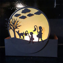 Eastshape Boy and Girl Metal Cutting Dies Scrapbooking Moon Star Child with Lantern for Card Making DIY Embossing Craft New