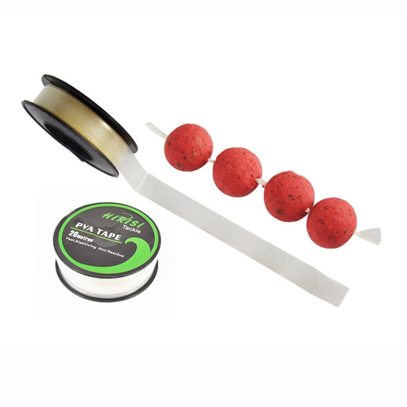 1pcs Carp Fishing Accessories PVA Tape String For Boilie Size 10mm X 20m Fishing Lure Mesh String Pesca Fishing Accessories