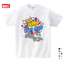 Cartoon 3D Cat Mouse T-shirt for Kids Summer Short Sleeve Tee Tops Clothes Children Clothing Printing Boy Girls TShirt