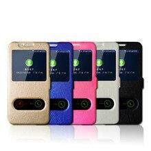 Janela de visualização de couro case para meizu m3s nota u10 u20 m2 m3 m5 pro 6 Pro 5 Mx6 Mx5 Max Metal Magnet Virar Capa Phone Cases & Bags