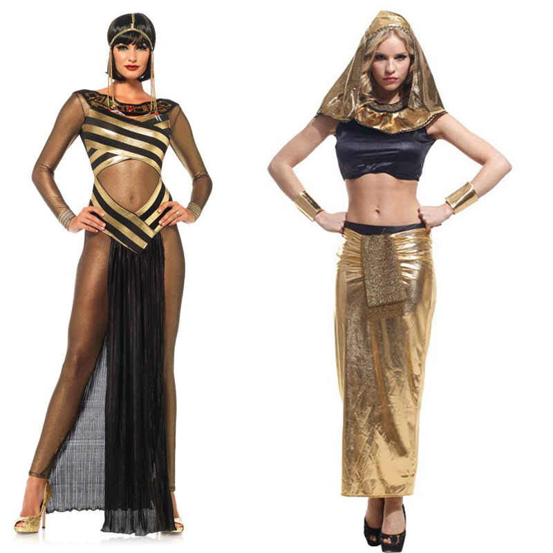 ce0849499c Detail Feedback Questions about Ancient Egyptian Goddess Adult Women Cosplay  Party Costume Halloween Sexy Cleopatra Princess Gothic Sexy Suit on ...
