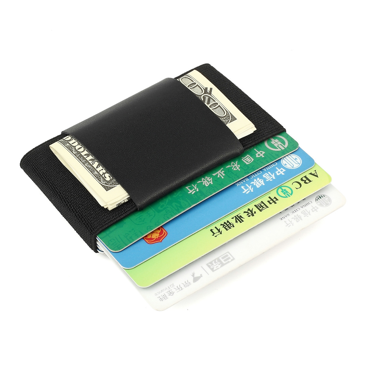 Minimalist Mini ID Card Holder Elastic Card Package Small Magic Business Credit Cardholders With Cash Coin Purse Key Wallet