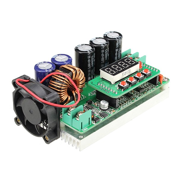Image 2 - Hot Sale 1PC 600W Digital Control DC DC Adjustable Step Up Module Constant Voltage Current Solar Charging Module Board-in Integrated Circuits from Electronic Components & Supplies