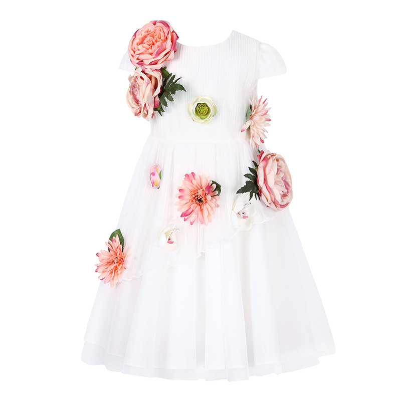 W.L.MONSOON Flower Girls Princess Dress Kids Baby Party Wedding Pageant Lace Dresses Clothes Enfant Children Girl Summer Sundres summer dress for girls children girl lace princess sundress toddler kids baby girls lace dress party prom party pageant dresses