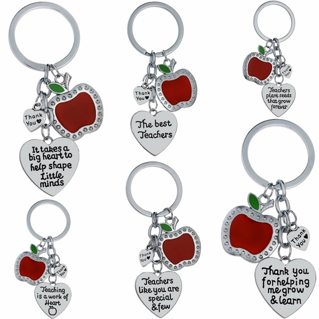 It Takes A Big Heart to Hep Shape Little Minds /& Thank You For Helping Me Grow Teacher Heart Key Chain