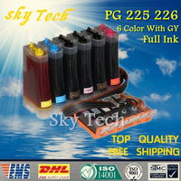6 Color Full Ink CISS Suit For PGI225 CLI226 PGI 225 CLI 226 CISS For Canon