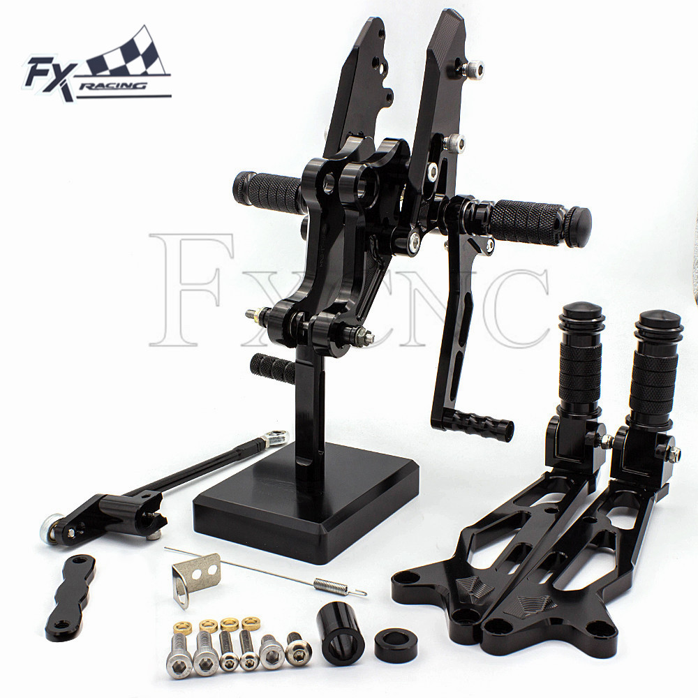 CNC Motorcycle Front Rear Set Footrest Foot Pegs Rest Footpeg Pedals <font><b>Rearset</b></font> For Honda <font><b>MSX125</b></font> grom MSX 125 2016 2017 2018 image