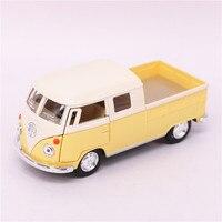 1 34 KINSMART Volkswagen Bus Truck Toy Die Cast ABS 1963 Bus Car Model Doors Openable