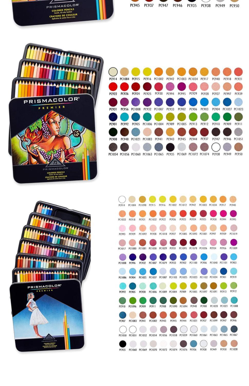 24/36/48/60/72/132/150 color lapis de cor oil color pencil big soft core compatible for prismacolor art draw color pencil 1 set