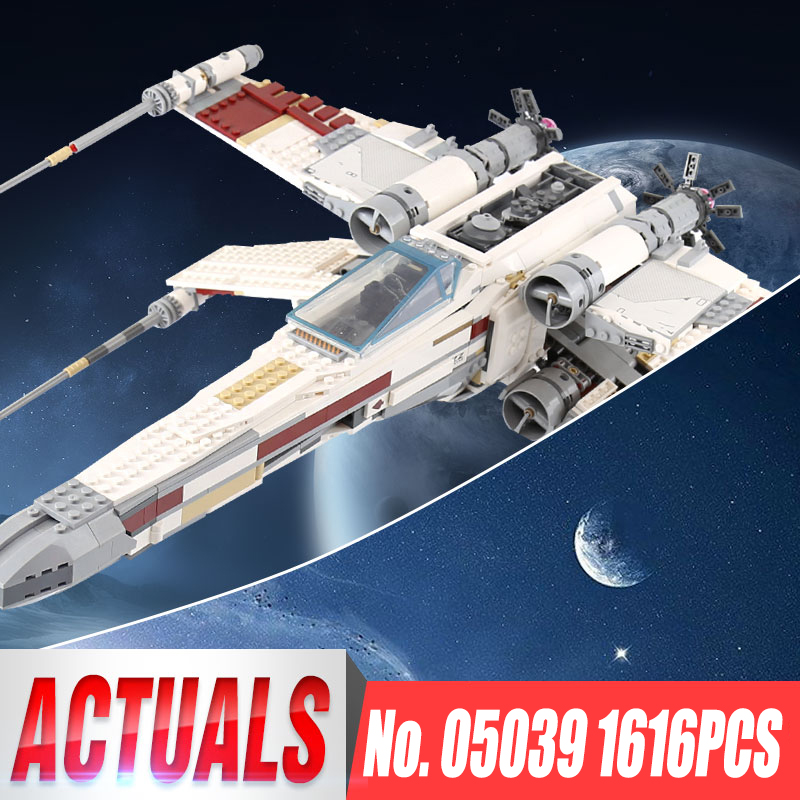 IN STOCK Lepin 05039 Star 1616Pcs Wars UCS The X-wing Rebel Red Five X-wing Starfighter  ...