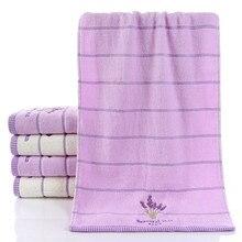 1 pcs Thicken Cotton Face Towels Lavender Bath Towel Soft Cotton Beauty