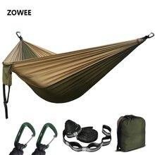 Hamaca de nailon para acampar al aire libre, hamaca portátil de persona doble para acampar, 2020
