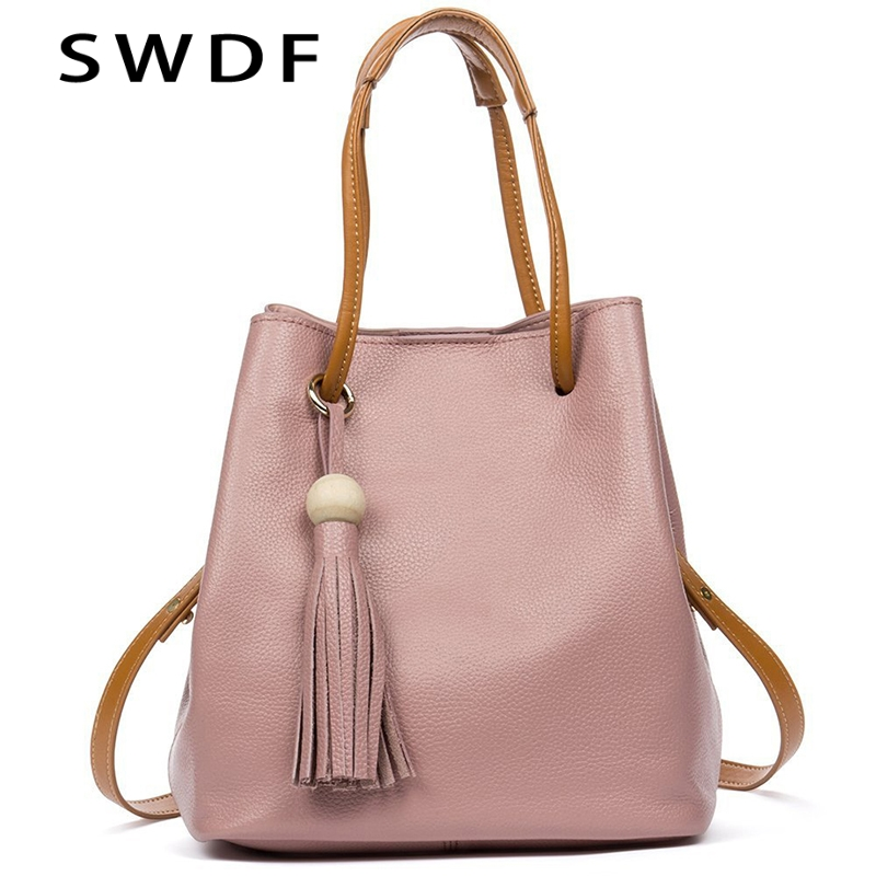 2018 Summer Women Handbag Genuine Leather Tote Shoulder Bag Bucket Ladies Purse Casual Shopping Bag Satchel Capacity Tote Bolsos women handbags pumping bucket bag shoulder messenger bag cow leather ladies purse casual shopping bags satchel capacity tote