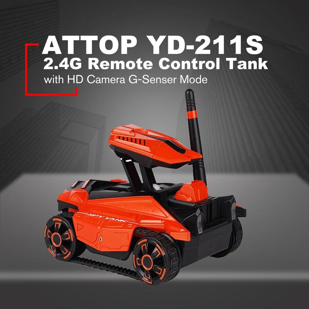 ATTOP char radiocommandé avec HD Caméra YD-211 Wifi FPV 0.3MP Caméra App télécommande Réservoir RC téléphone jouet Contrôlée Robot Cadeau pour enfants