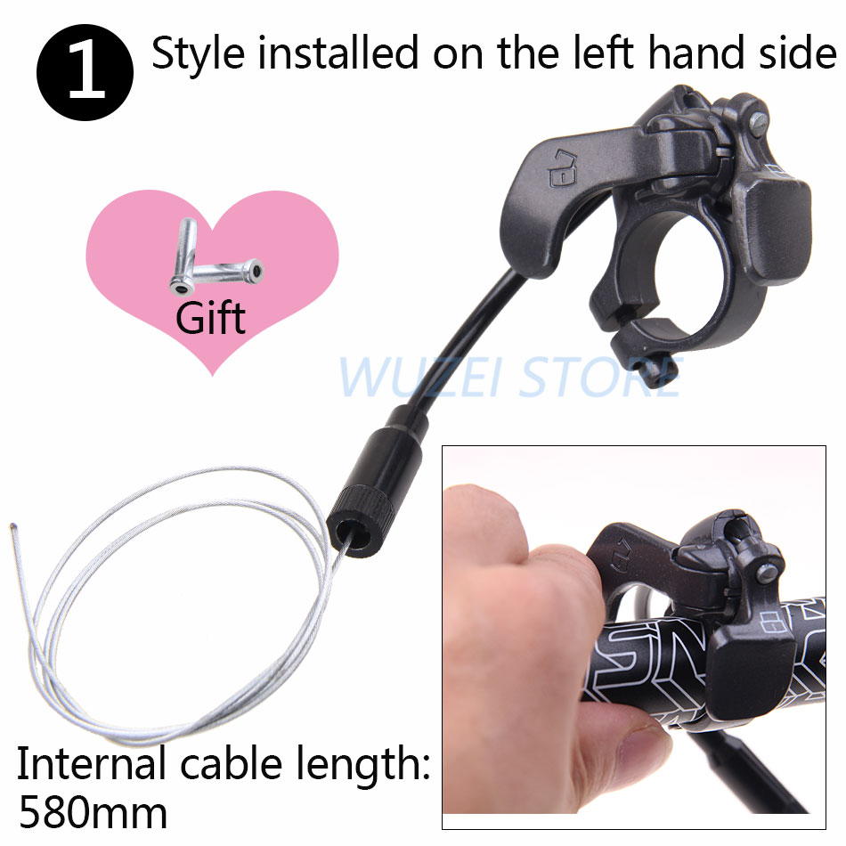 Adjustable Front Fork Remote Control Lockout Lever Switch For MTB Mountain Bike