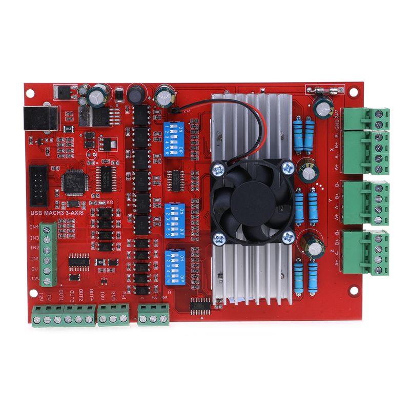 1 Set MACH3 CNC USB 100 Khz carte de dérivation 3 axes Interface pilote contrôleur de mouvement USB CNC carte de contrôleur