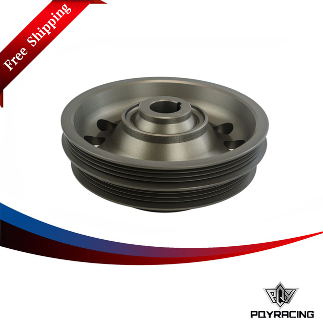 PQY RACING Free shipping- Racing Light Weight Aluminum Crankshaft Pulley OEM Size 92-95 For Civic SOHC D16 PQY-CP009  free shipping light weight crank pulley new for nissan skyline gtr bnr32 rb26 dett rb20 rb25 underdrive crank pulley yc100829