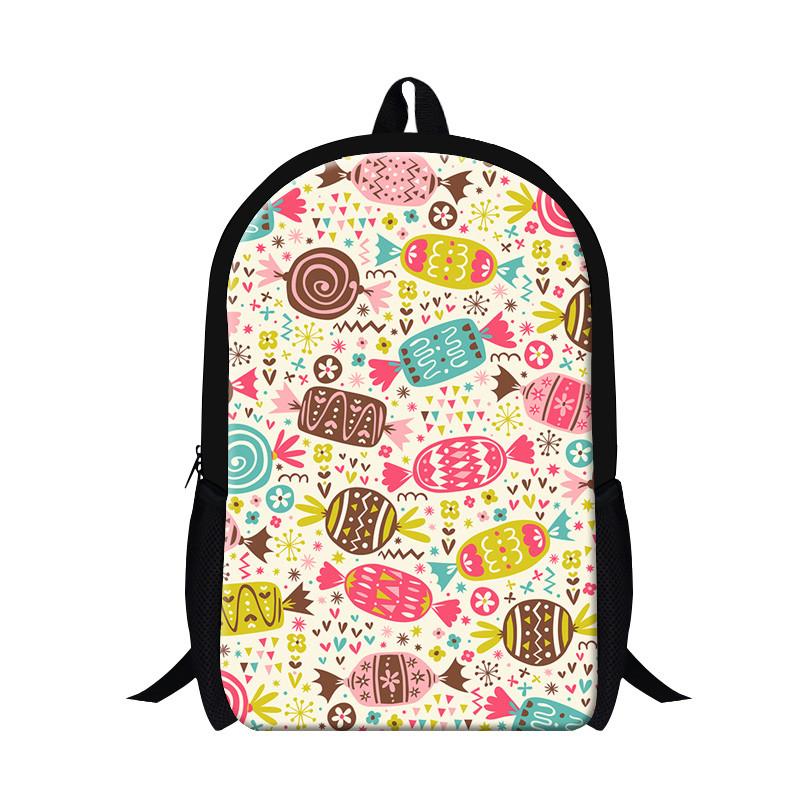 Pretty Style Children Graffiti Backpack Colorful Candy Printing School Bag  For Teenager Girls Shoulder Book Bag Mochila Feminina ba35bbf115f89