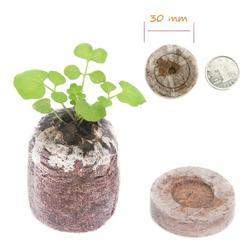 100 sztuk Taca do sadzonek odżywianie blok kompresji torfu średniej sadzonka gleby blok Seed Starter gleby zatyczki do przesadzania do ogrodu