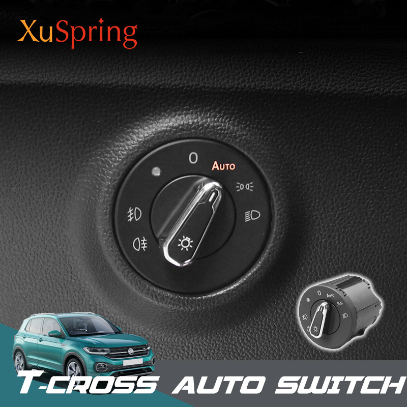 Car Refit Automatic Auto Switch Adjustment Equip Styling Accessories for Volkswagen VW T-cross Tcross 2019Car Refit Automatic Auto Switch Adjustment Equip Styling Accessories for Volkswagen VW T-cross Tcross 2019